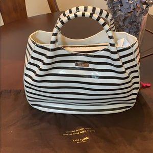 Kate Spade Black & White stripe purse